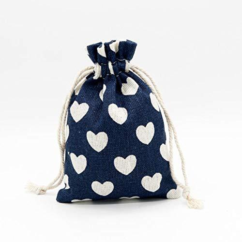 FSSQYLLX Bolsa con cordón Bolsa de algodón de Lino Bolsa de Regalo con cordón pequeño Collar Hecho a Mano Pulsera Bolsa de Embalaje de joyería
