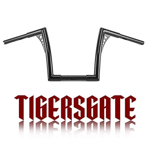 TIGERSGATE 1-1/4' Fat Ape Hangers Handlebar Bat Wing Handlebars 12-Inch Z bar for Harley Sportster Dyna Softail 1995-2017 Road King