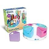 Learning Resources Create-a-Space (Pastel), Organizador papelería, Ideal para el Aula y para el hogar, Material plástico Que se Limpia pasando un Trapo, Set de 10 Piezas, Color (LER3806-P)