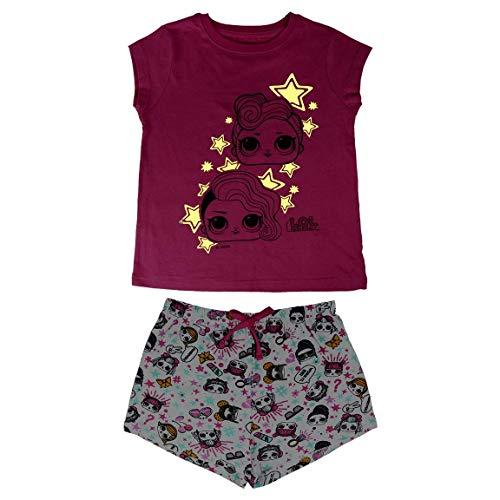Cerdá Pijama Brilla en Oscuridad de Muñecas LOL Surpirse, Rosa, 6 años para Niñas