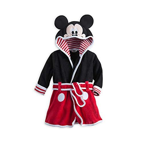 Susanlife LOKKSI - Albornoz unisex con capucha, pijama de franela esponjosa para niños de 1 a 6 años, diseño de tigre de sirena, color rojo