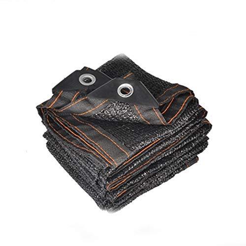Chunlan Garten Sun Sail Shade Stoffschirm Stoff Sonnenschutz-Tuch mit Tüllen for Pergola Abdeckung Canopy Schwarz Schatten Netto-UV-Schutz Schatten Netting (Größe: 4x8 m) MEI (Size : 4x8m)