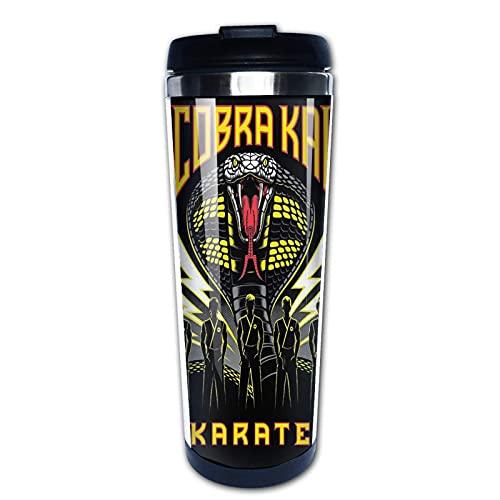 XCNGG Co_b-ra K-a-i Karate-Logo Isolierte Kaffeetasse Wasserflasche Edelstahlbecher mit Klappdeckel Teebecher 400ml