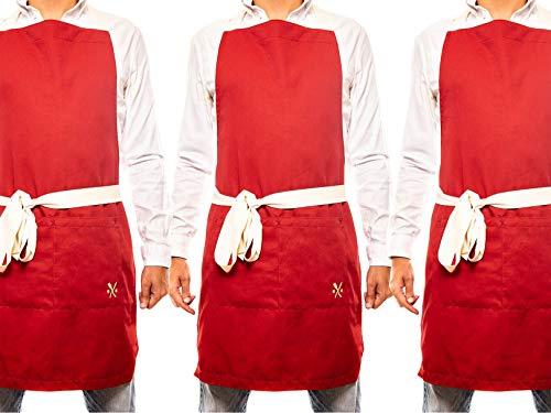 delantal rojo fabricante PESANI