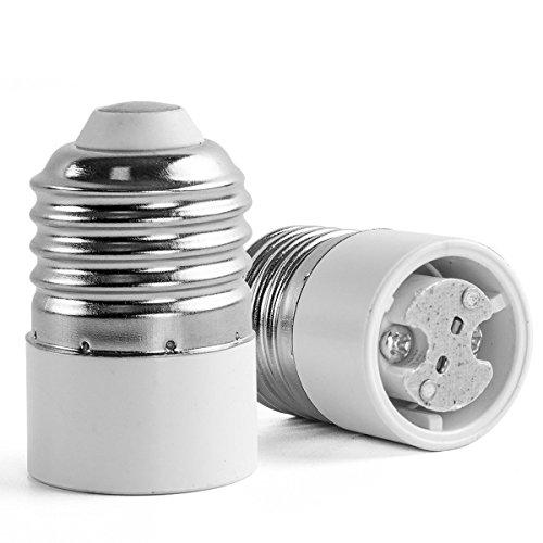 AWE-LIGHT 6-Pack E27 E26 to MR16 GU5.3 GU4 G4 - Standard E26/E27 Screw Base to MR16 GU5.3 GU4 G4 Base LED Light Lamp Adapter Holder Converter