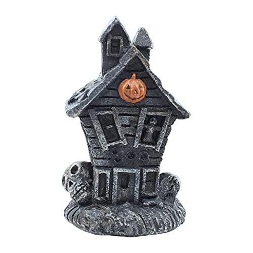 freneci Halloween Casa de Halloween Edificio Iluminado - Calabaza
