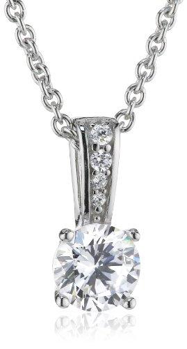 ESPRIT Damen Halskette 925 Sterling Silber rhodiniert Zirkonia ESNL92859A420