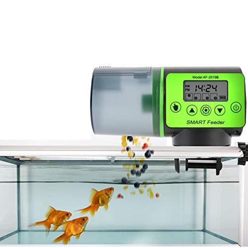 Futterautomat für Fische Aquarium mit digitaler Timer Fischfutterspender Fütterung Zeit Einstellung für Fisch Tank und Schildkröten Tank