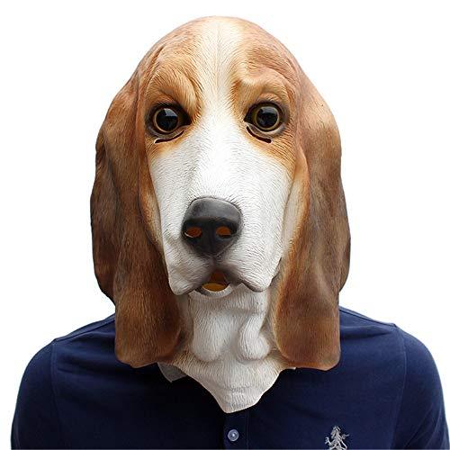 JOMSK Mscaras de ltex de horror para Halloween, festivales, fiestas, suministros para mascotas, mscara de ltex para perros (color: color de foto, tamao: M)