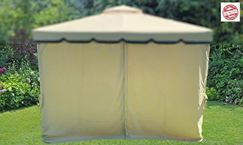 MLI 4 Teli Laterali di Ricambio per Gazebo da Giardino 3X3 Poliestere Impermeabile con Zip 95877