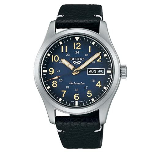 Seiko Herren Analog Automatik Uhr mit Leder Armband SRPG39K1