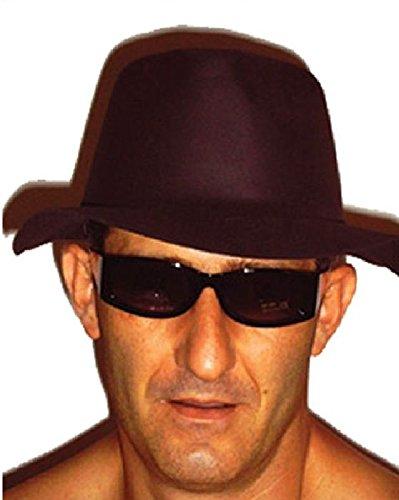 Mondial-Fete - 12 Chapeaux Al Capone Noirs