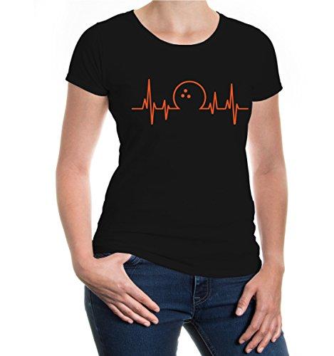 Girlie T-Shirt Frequenz-Bowling-L-Black-orange