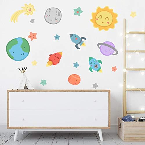 Espacio infantil - Sistema solar - Vinilos para bebé - T0- Basico
