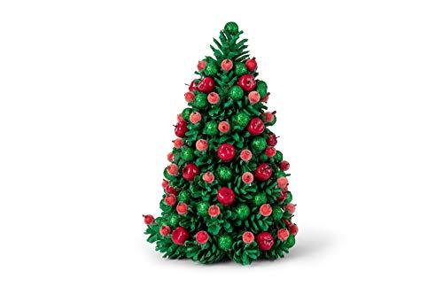 MilkMama Árboles de Navidad Hechos a Mano | Decoración Navideña de Mesa Artesanal | Adornado de Diseño Único Árbol de Navidad Decoración de Tablero de Mesa | Hecho a Mano en Europa (Verde)