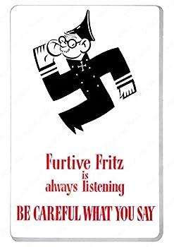 WW2 American Anti German Propaganda Poster  11.7x16.5 Unframed posters