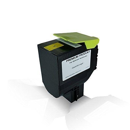 Print-Klex Yellow Tonerkartusche kompatibel für Lexmark 3.000 Seiten CX410de CX410dte CX410e CX510de CX510dhe CX510dthe CX 410 de CX 410 dte CX 410 e CX 510 de