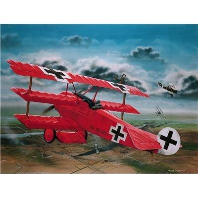 """Revell Modellbausatz Flugzeug 1:28 - Fokker Dr.1 \""""Manfred von Richthofen\"""" im Maßstab 1:28, Level 4, originalgetreue Nachbildung mit vielen Details, 04744"""
