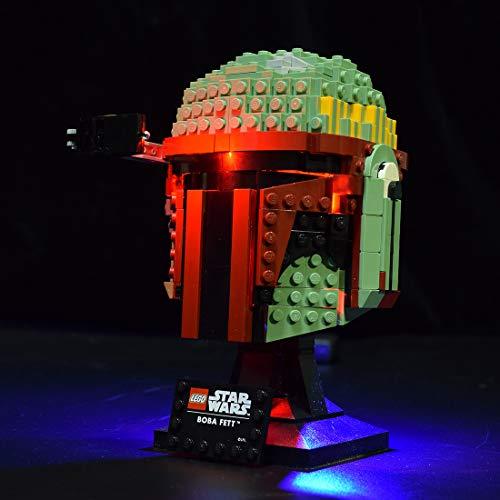 ZCXX Juego de luces LED compatibles con casco LEGO 75277 Boba Fett Casco, sin set Lego