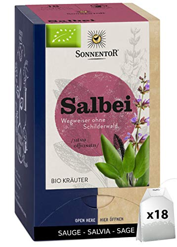 Tisane Sauge Bio Officinale Pure - Infusion Sauge Bio 18 Sachets Doses Qualité Pure | Sauge Officinale Certifiée Bio - Tisane Sauge A Infuser