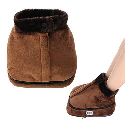 Calentador eléctrico del pie, calentador removible del pie Bota 5 Configuración de calor y apagado automático, con controlador de mano Suave y relajante Forro interior de lana de cordero(EU-Plug)
