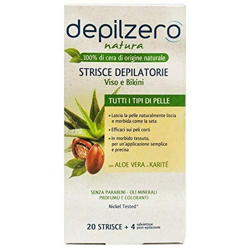 Depilzero Strisce Depilatorie 20pz Viso E Bikini Natura