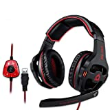 KLIM Mantis Gaming Headset - USB | Headset mit Mikrofon für PC, PS4, Nintendo Switch, Mac + 7.1...