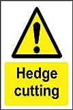 Etiqueta - Seguridad - Advertencia - Señal de corte de seto (Letrero de etiqueta) 30x20 cm - oficina, empresa, escuela, hotel