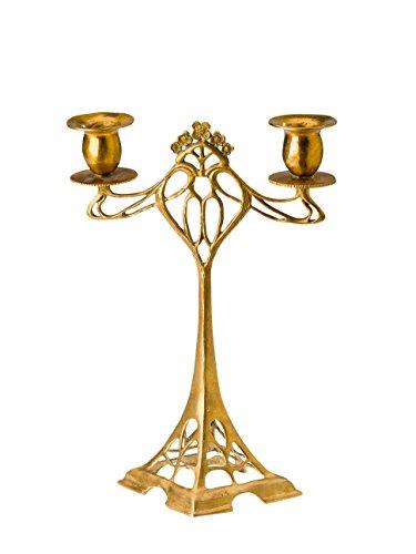 aubaho Kerzenständer Leuchter 28cm Kerzenleuchter Antik-Jugendstil-Stil Candlestick