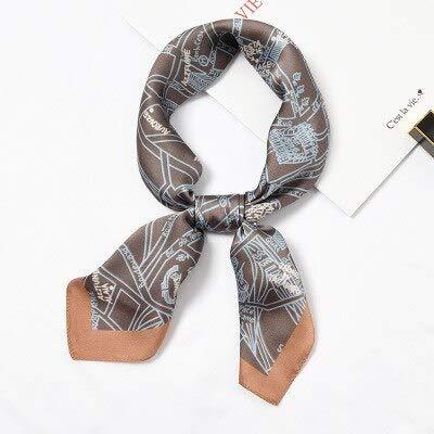 YDMZMS contrasterende geometrie sjaal vierkant haarband zijden sjaal vrouwelijk wilde vlieghulp professionele kleine decoratieve sjaal 877