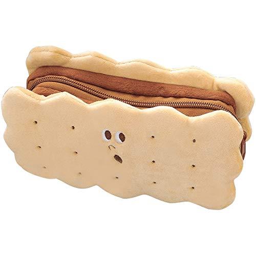 XKMY Aufbewahrungstasche Schreibwaren-Box 2021 Sandwich Keks weiches Plüsch-Federmäppchen Tasche niedliches Federmäppchen Kinder Geburtstag Geschenk Schule Schreibwaren (Farbe: 1 Stück)