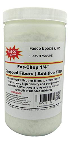 1/4' Chopped Strand Mat Fiberglass Fibers Quart