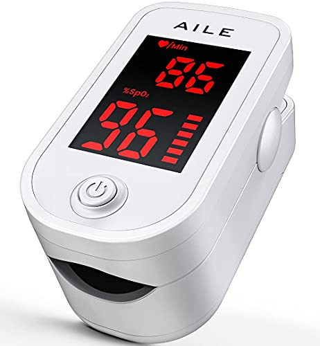 [2021] AILE Oximetro Dedo Con Medidor De Oxigeno En Sangre Pulsioximetro De Dedo Profesional –Medidor Saturacion Oxigeno Oxiometros De Dedo - SpO2, Pulsiometro Adulto De Dedo ⭐