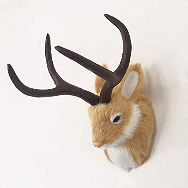 3 Color Realistic Jackalope Rabbit Taxidermy Replica Figurine For Easter Holiday Decoration Selling