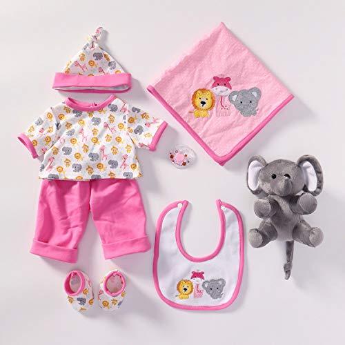 MineeQu 4 diversi stili Accessori per vestiti per bambole Adatto a bambole neonate 20-22 pollici Reborn Baby Doll Tutti i set di vestiti in cotone
