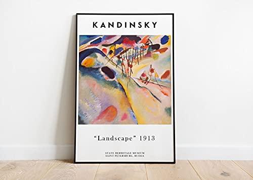 Wasilly Kandinsky Poster - Vassily Kandinsky Centro Pompidou Cuadro - Arte Abstracto - Decoración de pared - Obras de arte - Decoración del Hogar