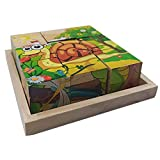 Hunpta - Puzzle de madera con diseño de animales para niños y niñas d