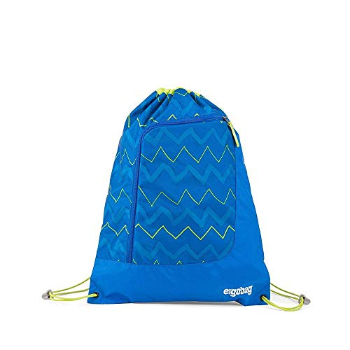 ergobag Gym Bag Prime LiBearo 2:0 Turnbeutel Fitness & Übung Unisex Kinder Kinder Zig Zag Blue Green (Mehrfarbig), Einheitsgröße