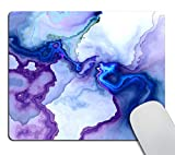 Smooffly Non-Slip Rubber Comfortable Customized Computer Mouse Pad - Crazy Abstract Melted Colorful Shapes, Insane Psychedelic Background Gaming Mouse Pad Custom,