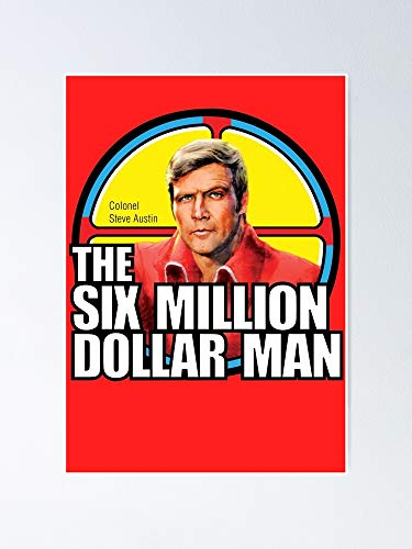 MCTEL Six Million Dollar Man - Steve Austin Poster 11.7x16.5 Inch Frame Board for Office Decor, Best Gift Dad Mom Grandmother and Your Friends