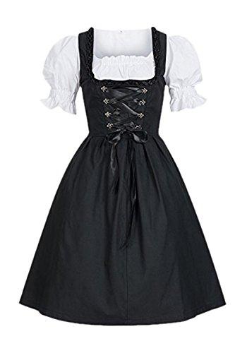 YACUN La Mujer Es Alemana Oktoberfest Maid Disfraz Vestido Dirndl