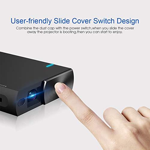 2018 mini bolsillo portátil portátil multimedia proyector 854*480 HD 1080 p cine en casa por Smart Tech