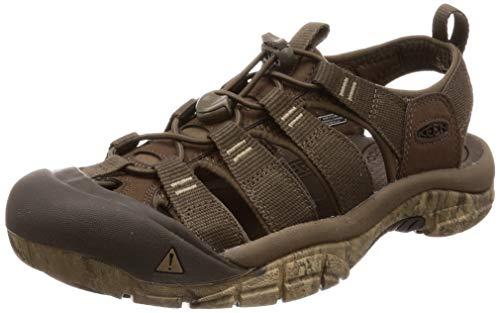 KEEN Men's Newport H2 Sandal Water Shoe, Canteen/Swirl Outsole, 10 M US