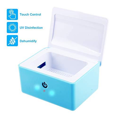 REAQER Portable Trockenbox Trockenstation zur Hörgeräte-Trocknung UV-C Licht - 99,9{0cd6d97185216a75fd6bf10c1b213a57bff8174e8f4b6da116f2a1ffa5f75004} Keimbeseitigung - Blau
