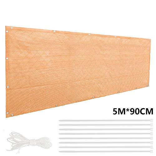 SUNNY GUARD Copertura per Balcone Giardino Schermo Privacy Resistente ai Raggi UV HDPE Telo frangivento con Fascette,75x300cm Antracite
