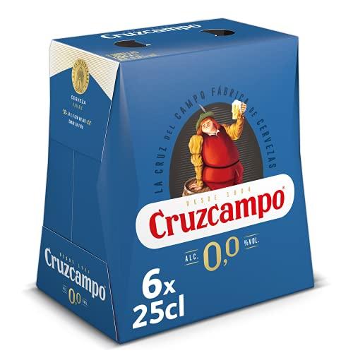Cruzcampo Cerveza 0.0% Alcohol, 6 x 250ml