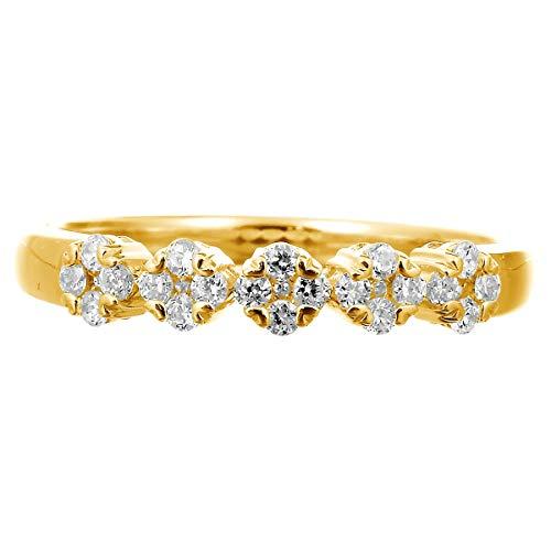 [ココカル]cococaru ダイヤ リング ダイヤモンドリング 指輪 10金 10k K10 ゴールド ギフト 記念日 プレゼント (イエローゴールド 17)
