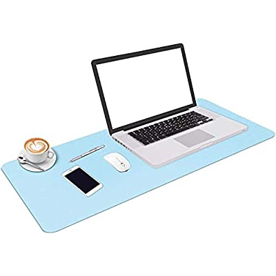 Amazon - Save 50%: 2021 Desk Pad Protector Office Desk Mat, 31.49″X15.75″ PU Leathe…