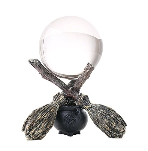 Witchraft cauldron broomstick crystal ball