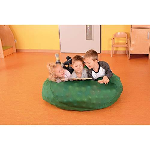 KL-Toys Sensorik-Sack / Mobiles Bällebad (Lieferung OHNE Bälle) / aus 100% Polyester Netzgewebe / Maße: Ø ca. 100 cm / Farbe: dunkelgrün